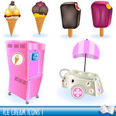 Ice cream icons 1 — Stock Vector