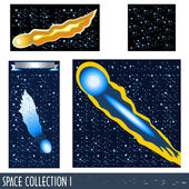 Space collection 1 — Stockvektor