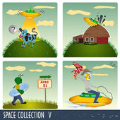 Space collection 5 — Stock Vector