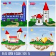 Real Estate collection 4, — Vector de stock