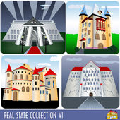 Real Estate collection 6 — Stock Vector