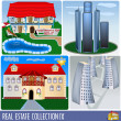 Real estate collection 9 — Stock Vector