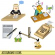 Accountant icons — Stock Vector