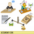 Постер, плакат: Accountant icons