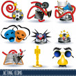 Acting icons - Stock Vector