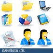 Administration icons — Stock Vector