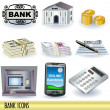 Stock Vector: Bank icons