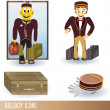 Stock Vector: Bellboy icons