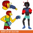 Boxer Clip Art collection - Stock Vector