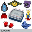 Boxing icons — Stock Vector