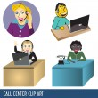 Stock Vector: Call Center Clip Art