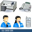 Call center icons — Stok Vektör