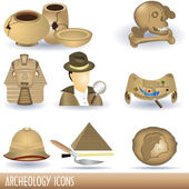 Archeology icons — Stock Vector