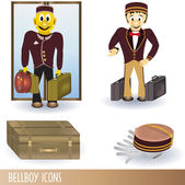 Bellboy icons — Stock Vector