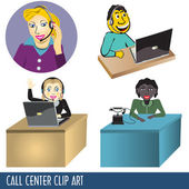 Call Center Clip Art — Stock Vector