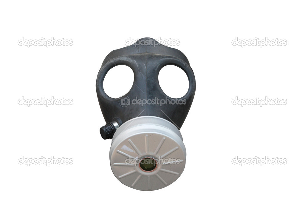 Gas mask isolated on white background — Stock Photo #2823716