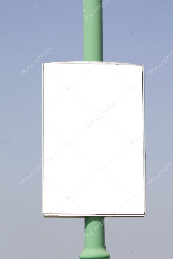 Advertisement banners empty blank on blue sky background — Stock Photo #2840065