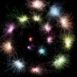 Color sparkler spiral - Stock Photo