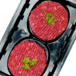 Packaged Beef Patties — ストック写真