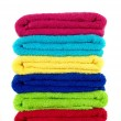 Colored Bathroom Towels — Stock Photo