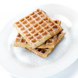 Breakfast Waffles - Stock Photo