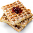 Breakfast Waffles — Stock Photo