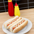 Stock Photo: Hotdogs