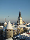 Old Tallinn in winter — Stock Photo