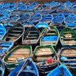 Photo: Blue boats
