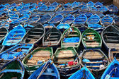 Blue boats — Stock Photo
