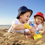 Fun at the beach — Stock Photo