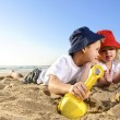 Fun at the beach — Stock Photo