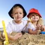 plezier op het strand — Stockfoto