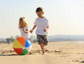 Plaj topu sevinç — Stok fotoğraf
