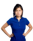 Grumpy chinese girl — Stock Photo
