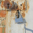 Foto Stock: Two old locks