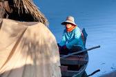 Combodian fisherman — Stock Photo