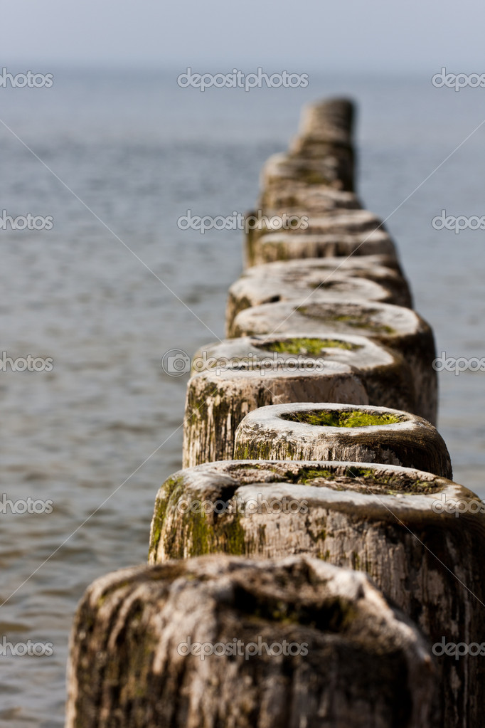 Breakwater in the baltic sea — Stock Photo #2917486