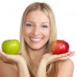 Woman with apples — Stock Photo #2931236