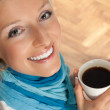 Woman with cup of coffee — Stock Photo #3076474