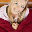 Woman in pajama in bed — Stock Photo #3076560