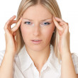 Woman with head pains — Stock Photo #3127556