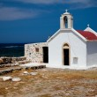 Greek Crete coastline with church — Stock Photo