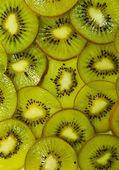 Sliced kiwi fruits closeup — Stock Photo
