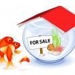 Royalty-Free Stock Vector Image: Goldfish new house