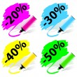Stock Vector: Marker labels set