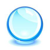 Blaue kristallkugel — Stockvektor
