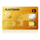 Gold credit card — Stock Vector