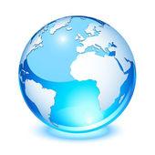 Crystal earth — Stock Vector