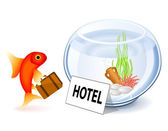 Goldfish Hotel — Stock Vector